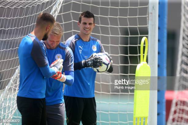 Eldin Jakupovic of Leicester City during the training session in Hong Kong ahead of the Premier League Asia Trophy final against Liverpool on July 21...