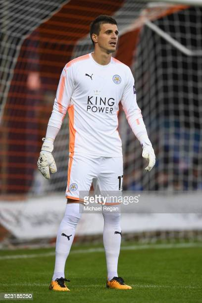Eldin Jakupovic of leicester looks on during the preseason friendly match between Luton Town and Leicester City at Kenilworth Road on July 26 2017 in...
