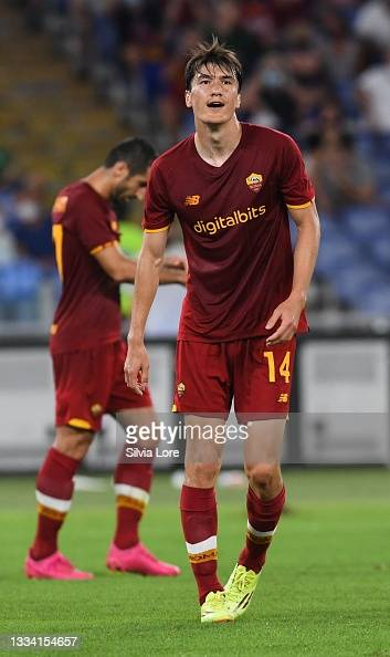 Eldor Shomurodov of AS Roma looks on during the pre-season friendly... News Photo - Getty Images