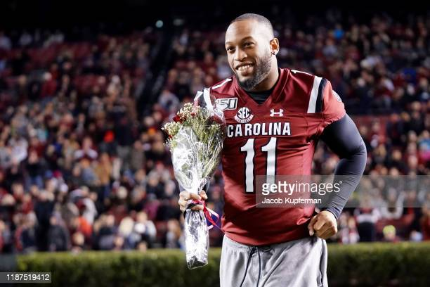 Eldridge Thompson of the South Carolina Gamecocks before their game against the Appalachian State Mountaineers at Williams-Brice Stadium on November...