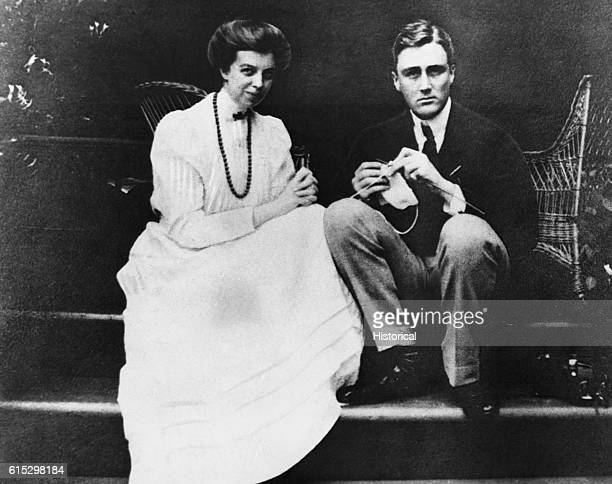 Eleanor and Franklin Roosevelt as a young couple They were married March 17 1905