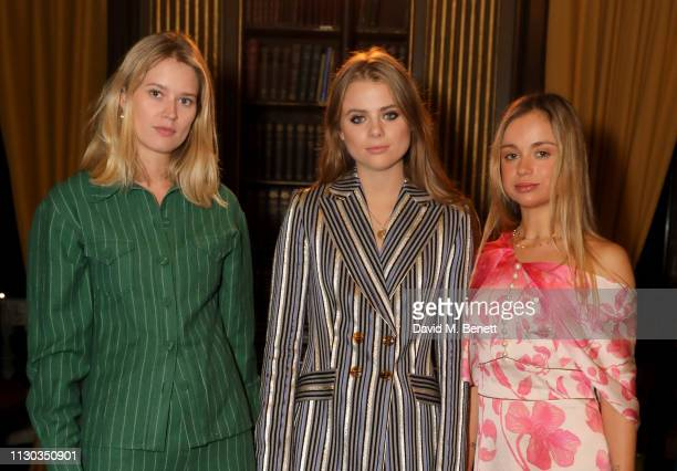 Eleanor Balfour Bea Fresson and Lady Amelia Windsor attend the Peter Pilotto Autumn Winter 2019 Show on February 17 2019 in London England