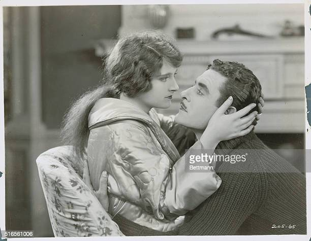 Eleanor Boardman and John Gilbert are shown on the set of Wife of The Centaur