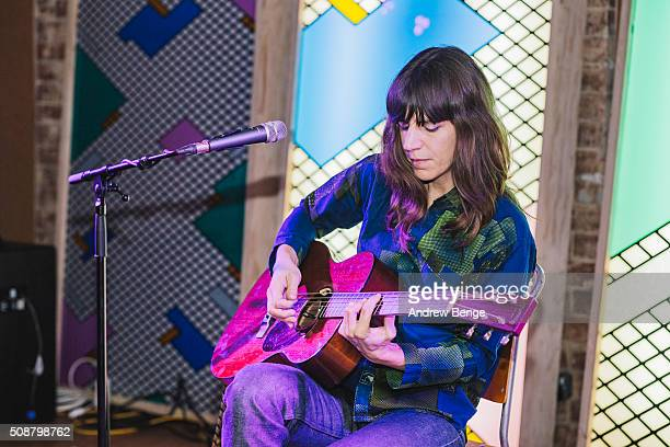 Eleanor Friedberger performs on stage at Headrow House on February 6 2016 in Leeds England