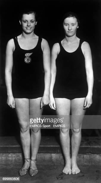 Eleanor G Holm and Dorothy Myers USA swimmers