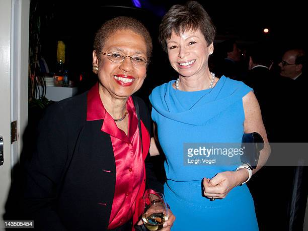 Eleanor Holmes Norton and Valerie Jarrett attend The New Yorker's White House Correspondents' Dinner Party at the W Hotel on April 27 2012 in...