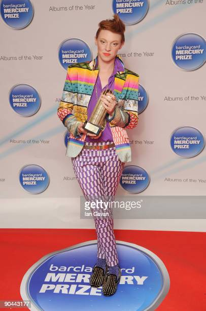 Eleanor Jackson aka La Roux attends the 2009 Barclaycard Mercury Prize at The Grosvenor House Hotel on September 8 2009 in London England