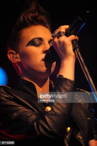 Eleanor Jackson of La Roux performs on stage at the Live Music Hall on February 27 2010 in Koeln Germany