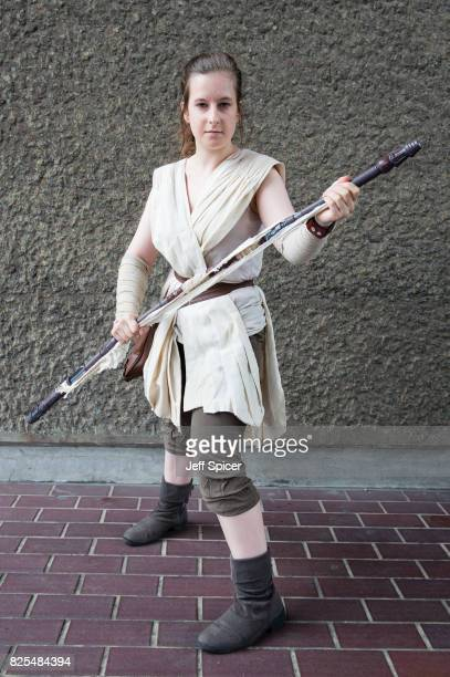Eleanor Jane Stringer dresses as Rey from Star Wars as science fiction fans cosplayers and aficionados celebrate the final month of 'Into The Unknown...