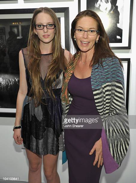 "Eleanor Jasmine Lambert and Diane Lane attend Greg Gorman's ""A Distinct Vision 1970-2010"" gallery opening hosted by Grey Goose at Pacific Design..."