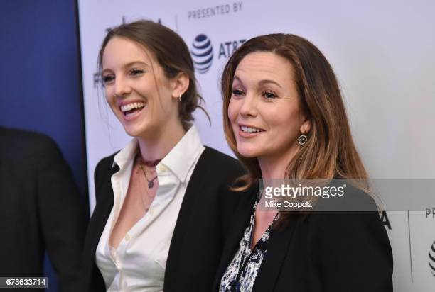Eleanor Lambert and Diane Lane attend From the Ashes Premiere 2017 Tribeca Film Festival on April 26 2017 in New York City