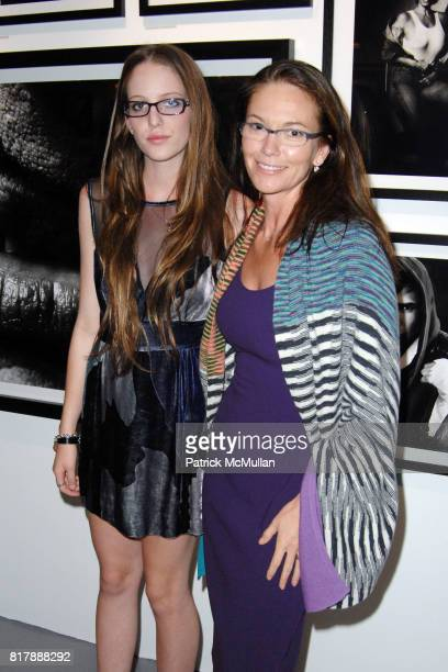 Eleanor Lambert and Diane Lane attend GREG GORMAN A DISTINCT VISION 1970 2010 at Pacific Design Center on September 14 2010 in West Hollywood...