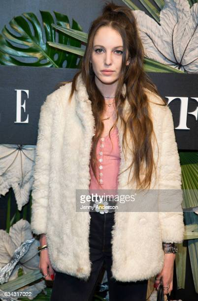 Eleanor Lambert attends E ELLE IMG Fashion Week KickOff on February 8 2017 in New York City