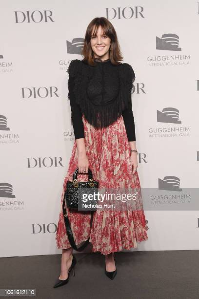 Eleanor Lambert attends the 2018 Guggenheim International Gala Pre-Party made possible by Dior at Solomon R. Guggenheim Museum on November 14, 2018...