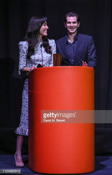 Eleanor Matsuura and Andrew Garfield attend the inaugural Casting Awards celebrating the significant achievements of casting in the fields of Theatre...