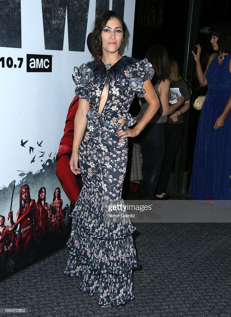 "Premiere Of AMC's ""The Walking Dead"" Season 9 - Arrivals : News Photo"