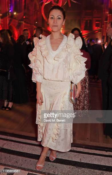 Eleanor Matsuura attends The Olivier Awards 2019 after party at The Natural History Museum on April 7 2019 in London England