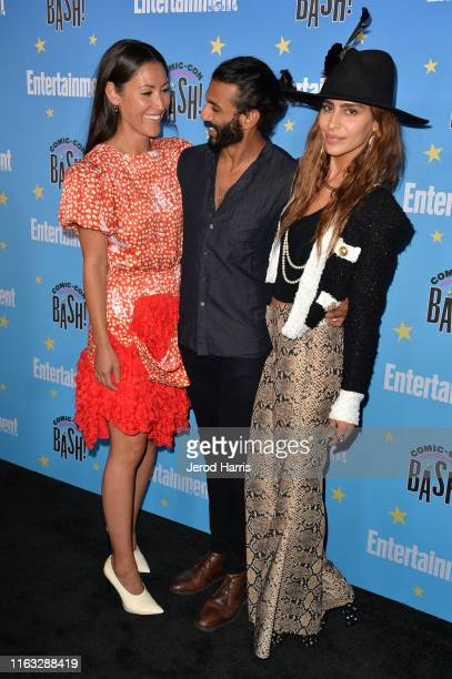 Eleanor Matsuura Avi Nash and Nadia Hilker attends Entertainment Weekly ComicCon Celebration at Float at Hard Rock Hotel San Diego on July 20 2019 in...