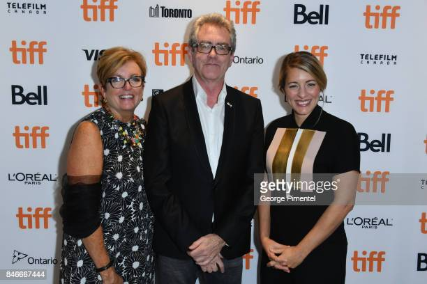 Eleanor McMahon Director and CEO of TIFF Piers Handling and Melanie Joly attend the 'Long Time Running' premiere during the 2017 Toronto...