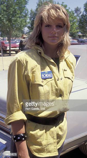 Eleanor Mondale attends National Organization of Women Democratic Campaign Fundraiser on May 13 1984 at Woodley Park in Van Nuys California