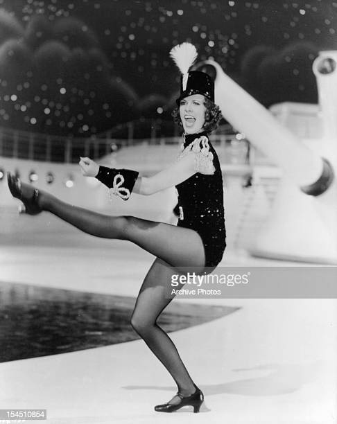 Eleanor Powell kicks her leg in a scene from the film 'Born To Dance' 1936
