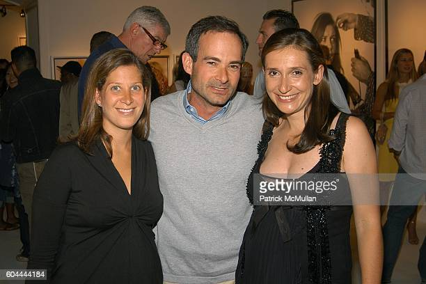Eleanor Propp Rodney Propp and Delphine Krakoff attend COACH Legacy Photo Exhibit by REED KRAKOFF at Coach on August 26 2006 in East Hampton NY