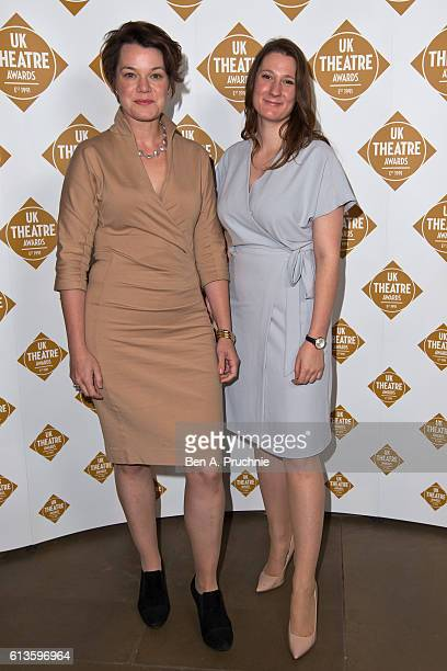 Eleanor Rhode and Sarah Loader attends the UK Theatre Awards at The Guildhall on October 9 2016 in London England