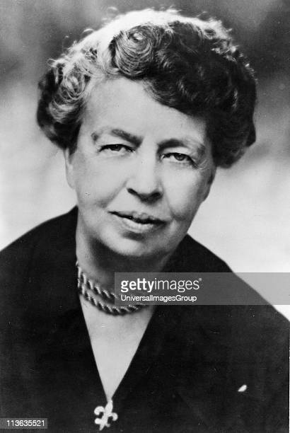 Eleanor Roosevelt American humanitarian Chairman UN Human Rights Commission 19471951 and US representative at General Assembly 1946 Wife of Franklin...