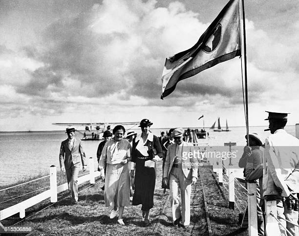 Eleanor Roosevelt Walking With Lorena Hickok During Trip to Puerto Rico