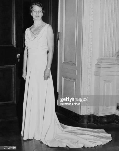 Eleanor Roosevelt Wearing A Sally Milgrim Creation In Washington On January 1937