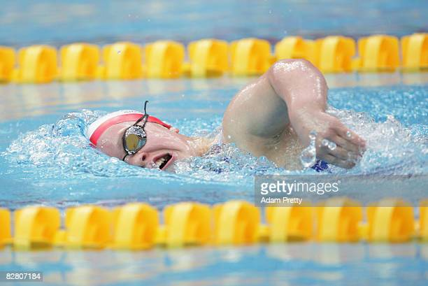 Eleanor Simmonds of Great Britain competes in the 400m Freestyle S6 Swimming event at the National Aquatics Centre during day eight of the 2008...