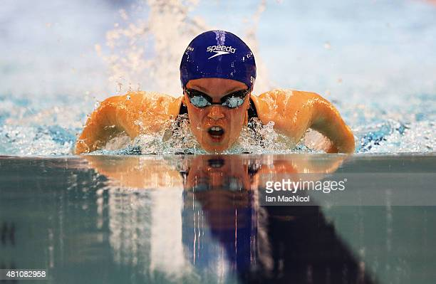 Eleanor Simmonds of Great Britain competes in the heats of the Women's 200m IM SM6 during Day Five of The IPC Swimming World Championships at...