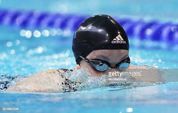 Eleanor Simmonds of Great Britain competes in the heats of the Women's MC 200m IM during Day Five of British ParaSwimming International Meet at...