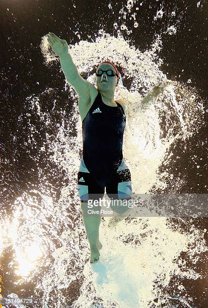 Eleanor Simmonds of Great Britain competes in the Women's 100 Freestyle S6 heats on day 10 of the London 2012 Paralympic Games at Aquatics Centre on...