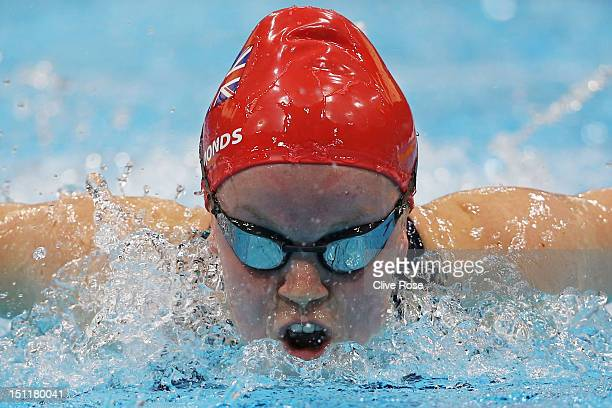 Eleanor Simmonds of Great Britain competes in the Women's 200m Individual Medley SM6 heat 2on day 5 of the London 2012 Paralympic Games at Aquatics...