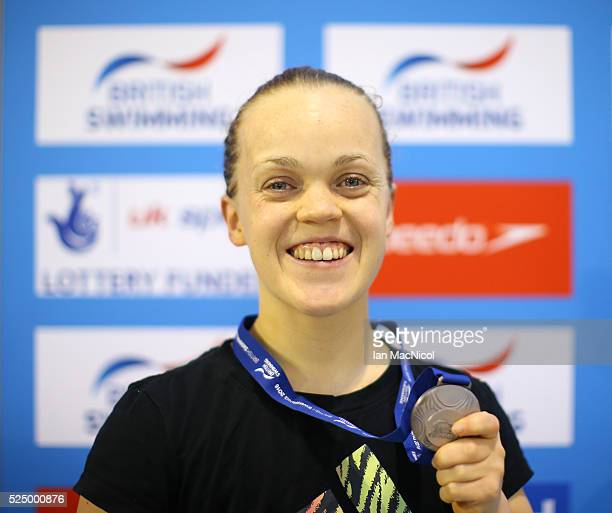 Eleanor Simmonds of Great Britain poses with her silver medal from the Women's MC 200m IM during Day Five of British ParaSwimming International Meet...