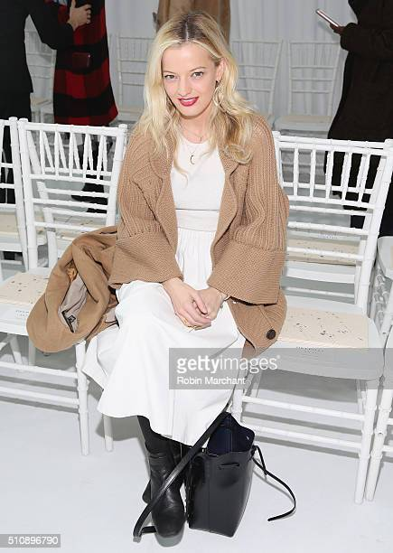 Eleanor Strauss attends Delpozo during Fall 2016 New York Fashion Week at Pier 59 Studios on February 17, 2016 in New York City.