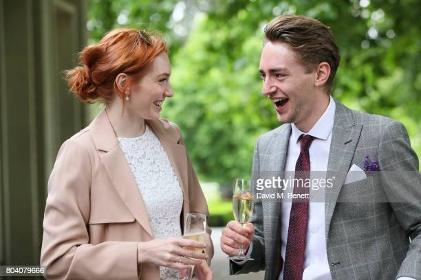 Eleanor Tominson and Guest attend the Aspall Tennis Classic at The Hurlingham Club on June 30 2017 in London England
