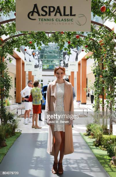 Eleanor Tominson attends the Aspall Tennis Classic at The Hurlingham Club on June 30 2017 in London England