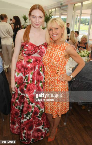 Eleanor Tomlinson and Ashley Jensen attend the Audi Polo Challenge at Coworth Park Polo Club on June 30 2018 in Ascot England