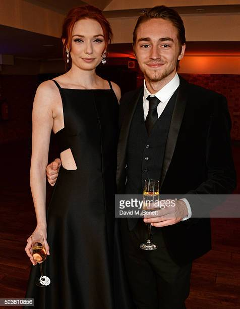 Eleanor Tomlinson and brother Ross Tomlinson arrive for the British Academy Television Craft Awards at The Brewery on April 24 2016 in London England
