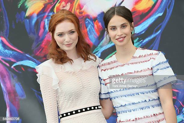 Eleanor Tomlinson and Heida Reed attend Poldark Photocall as part of the 56th Monte Carlo Tv Festival at the Grimaldi Forum on June 15 2016 in...