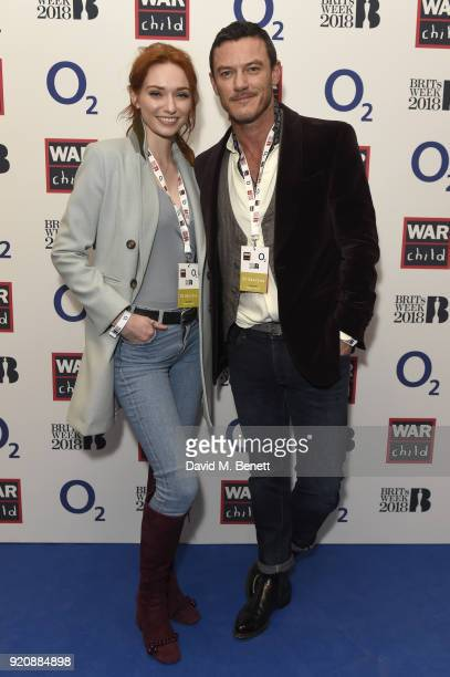 Eleanor Tomlinson and Luke Evans attend as BRIT Award Nominee Ed Sheeran performs at the intimate Indigo at The O2 as part of the War Child BRITs...