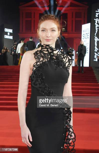 Eleanor Tomlinson arrives at The Fashion Awards 2019 held at Royal Albert Hall on December 2 2019 in London England