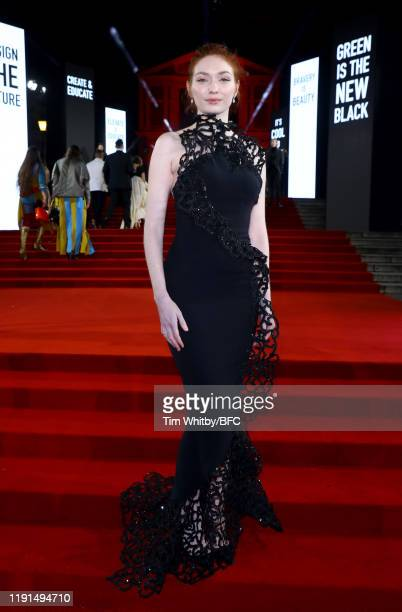 Eleanor Tomlinson arrives at The Fashion Awards 2019 held at Royal Albert Hall on December 02 2019 in London England