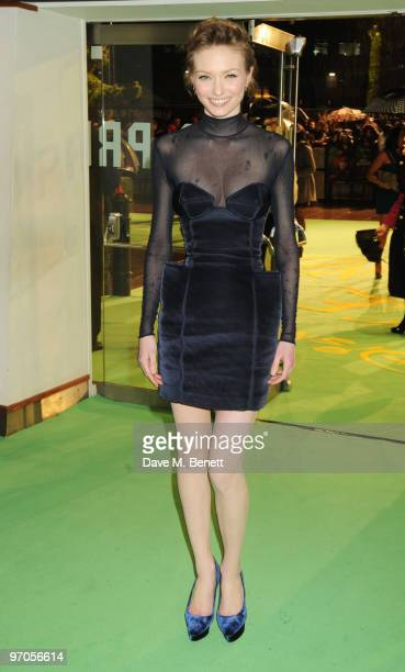 Eleanor Tomlinson arrives at the Royal World Premiere of 'Alice In Wonderland' at the Odeon Leicester Square on February 25 2010 in London England