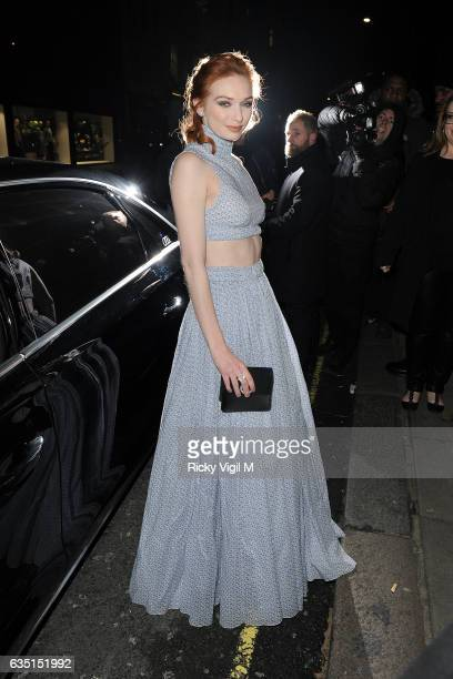 Eleanor Tomlinson arriving at the Elle Style Awards on February 13 2017 in London England