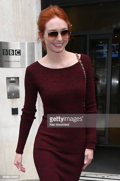 Eleanor Tomlinson at BBC Radio 2 on September 2 2016 in London England