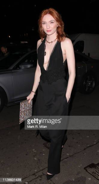 Eleanor Tomlinson attending the Vogue Bafta after party at Annabel's club on February 10 2019 in London England