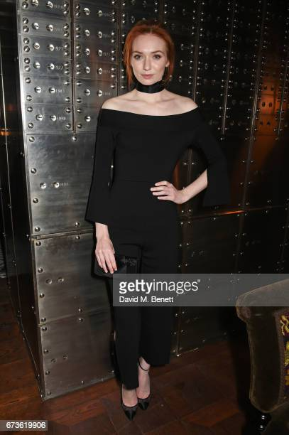 Eleanor Tomlinson attends an opening party in The Vault bar and lounge Ned's Club Downstairs at The Ned London on April 25 2017 in London England